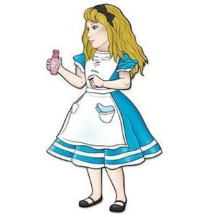 """Alice In Wonderland - Jointed Cutout - 38"""""""