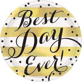 Plates Bev-Best Day Ever-8pk
