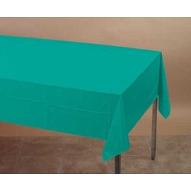 Plastic Rectangular TableCover - Teal Lagoon - 54 in x 108 in