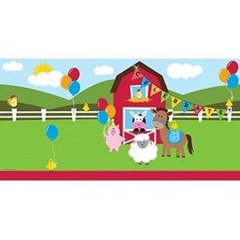 Plastic Rectangular Table Cover Farmhouse Fun