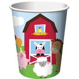 Paper Cups- Farmhouse Fun (8 cups)