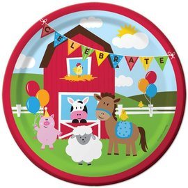 Paper Plates Lunch/ Dinner- Farmhouse Fun (8 Plates)