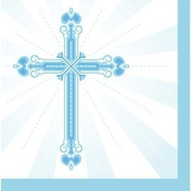 Napkins Lunch - Blessings Blue (36 Napkins)