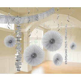 Foil and Paper Decorations Kit - Silver