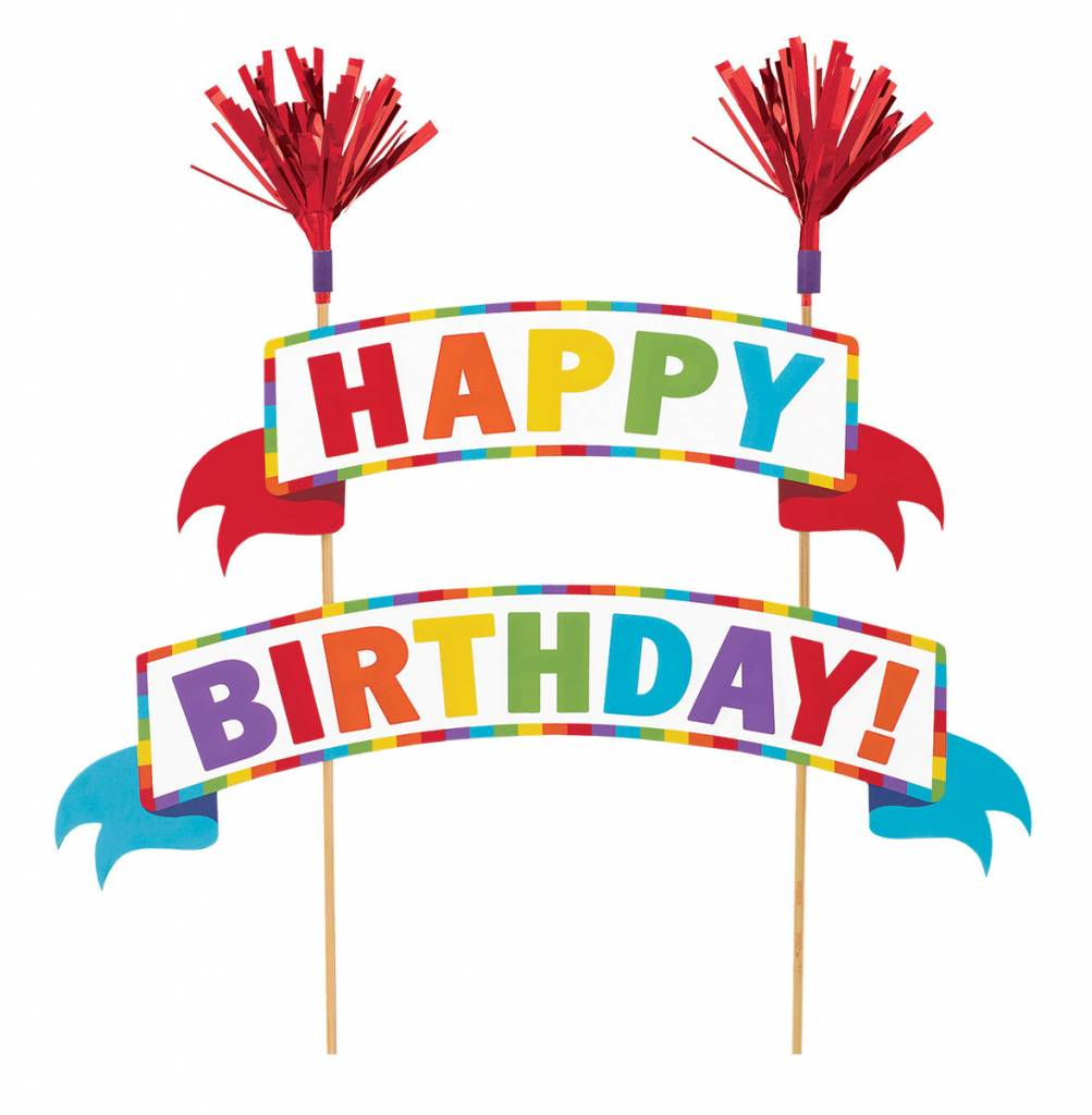 Cake Picks Happy Birthday Rainbow Victoria Party Store