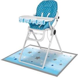 High Chair Kit - One Little Star Blue
