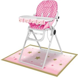 High Chair Kit - One Little Star Pink