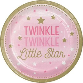 Plates Beverage - Twinkle Little Star Pink