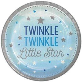 Plates Beverage - Twinkle Little Star Blue
