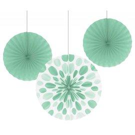 Paper Fans - Mint