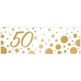 Banner Plastic -  50th - Sparkle and Shine