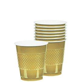 Cups-Gold-20pkg/12oz-Plastic