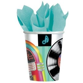 Cups-Sock Hop-Paper-9oz-8pk - Discontinued