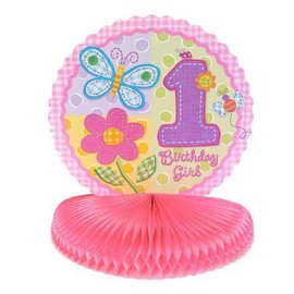 Centerpiece-Honeycomb-Hugs& Stichrs Girl-8.5''