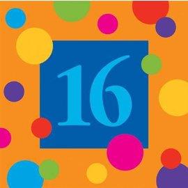 Napkins-BEV-16th Birthday Stripes-16pkg-3ply