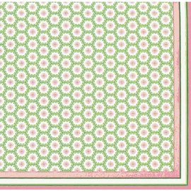 Napkins-DN-Pink & Green Decor-12pkg-1ply (Discontinued)