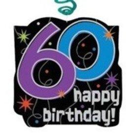 Danglers-Swirl and Cutout -60th Birthday-30pk