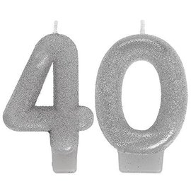 Candles-Numeral-Sparkling Celebrate 40