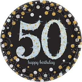 Plates-LN-Sparkling Celebration 50-8pk-Paper