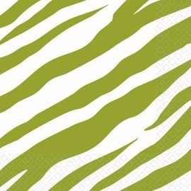 Napkins-BEV-Avocado Zebra-16pk-2ply (Discontinued)