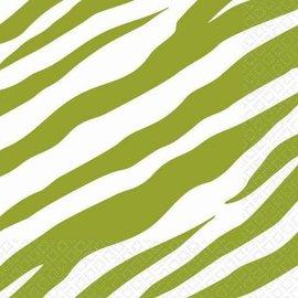 Napkins-BEV-Avocado Zebra-16pk-2ply (Discontinued)