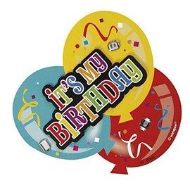 Deluxe Button-It's My Birthday Balloons (1pk)