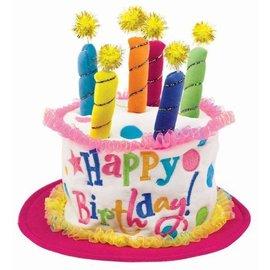 Hat-Girl Birthday Cake-7''-Fabric