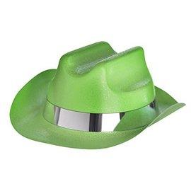 Hat-Mini-Cowboy-Glitter-Green-Plastic