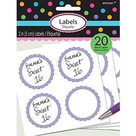 Labels-Scalloped-Lavender-20pk/2''