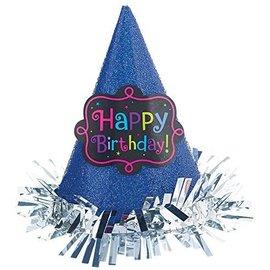 Hat-Mini-Cone-HBD-Fringe-Blue-Glitter-Paper