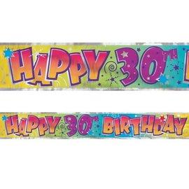 Banner-30th Birthday-Foil-12ft