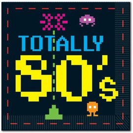 Napkins-BEV-Totally 80's-16pk-2ply- Discontinued