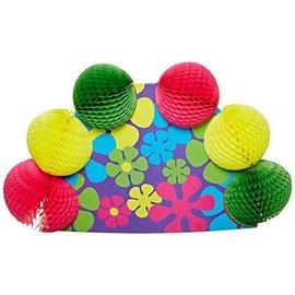 "Centerpiece-Honeycomb-Retro Flowers-1pkg-10"""