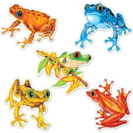 Cutouts-Mini Colorful Frogs-10pkg-4.5""