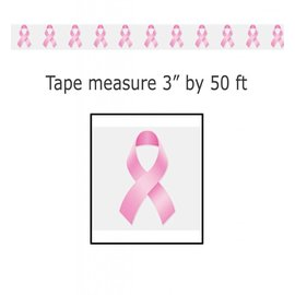 Party Tape-Plastic-Pink Ribbons-1pkg-50ft