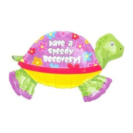 "Foil Balloon - Have a Speedy Recovery Turtle - 37""x22"""