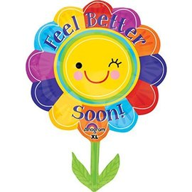 """Foil Balloon - Jumbo - Feel Better Soon Flower - 21""""x29"""""""