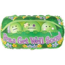 """Foil Balloon - Jumbo - Peas Get Well Soon - 23""""x30"""""""