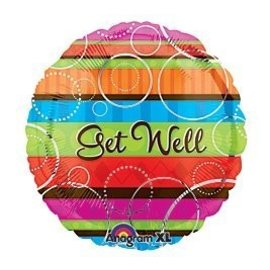 Foil Balloon - Get Well Colorful - 18""