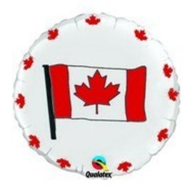 "Foil Balloon - Canada Flag - 18"""