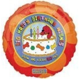 Foil Balloon - Cifford's Puppy Days Birthday - 18""
