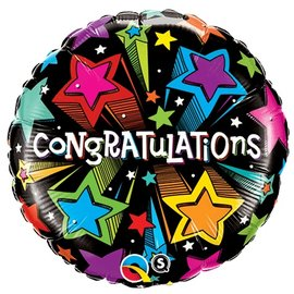 Foil Balloon - Congratulations Shooting Stars - 18""