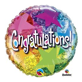 """Foil Balloon - Congratulations Bright Stars - 18"""""""