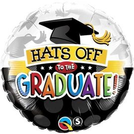 Foil Balloon - Hats Off To The Graduate - 18""