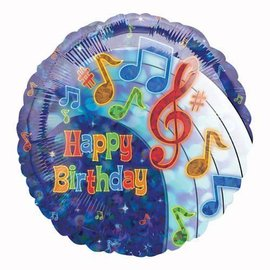Foil Balloon - Happy Birthday Party Tunes - 18""