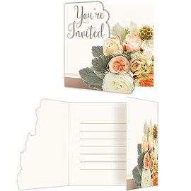 Invitations-Rose Gold Bouquet-8pk-Paper