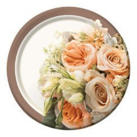 Plates BEV-Rose Gold Bouquet (6 7/8 in) (8pk) - Discontinued