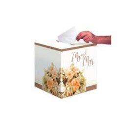 Card Box-Rose Gold Bouquet (1pk)