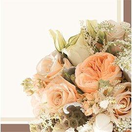 Napkins-BEV-Rose Gold Bouquet-16pk-2ply - Discontinued