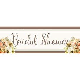 Banner-Bridal Shower-Rose-Plastic-60''x20''